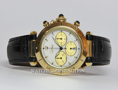 £SOLD (REF 3247) CARTIER PASHA CHRONOGRAPH REF 1992