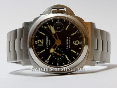 £SOLD (REF 4646) PANERAI LUMINOR GMT REF PAM000297