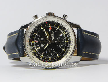 £SOLD (REF 4706) BREITLING NAVITIMER WORLD GMT REF A24322