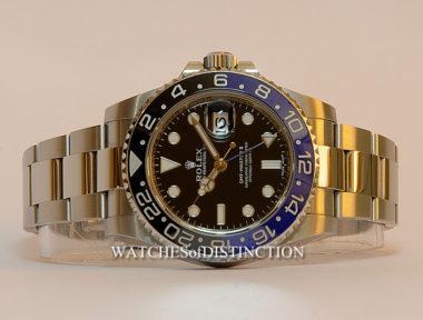 "£SOLD (REF 4950) GMT MASTER II ""BATMAN"" MODEL 116710 BLNR"