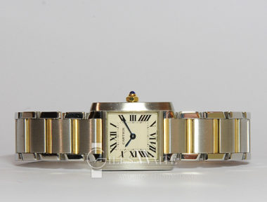 £SOLD (REF 5280) CARTIER TANK FRANCAISE REF 2384