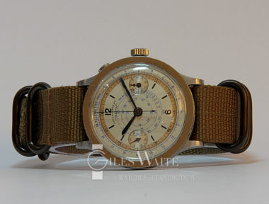 £SOLD (REF 5429) LOWENTHAL ONE BUTTON CHRONOGRAPH (1930'S)