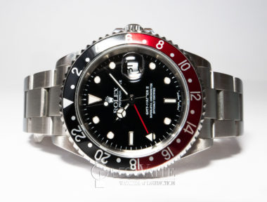 """£8,995 (REF 6399) GMT Master II REF 16710 """"coke"""" (2002)"""