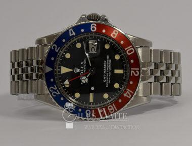 """£SOLD (REF 9084) ROLEX GMT MASTER """"PEPSI"""" REF 1675/0 (1976)"""